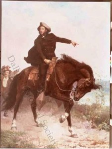 Equestrian portrait of Sam Houston